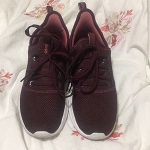 Maroon adidas tennis shoes size 8